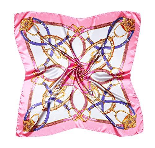 (Silk Like Scarf Women's Fashion Pattern Large Square Satin Headscarf)