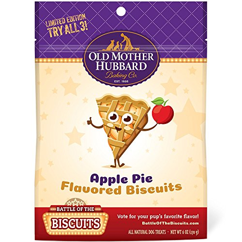 Old Mother Hubbard Limited Edition Apple Pie Natural Dog Treats, 6-Ounce Bag, Small