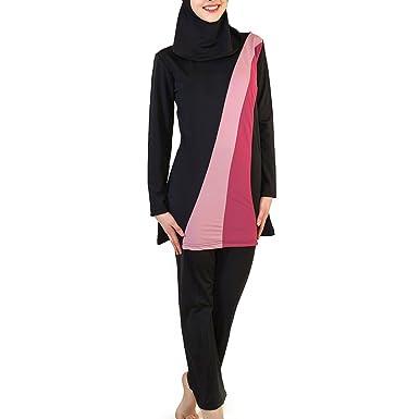 Zhhlaixing Womens Modest Full Cover Muslims Swimsuit Swimwear