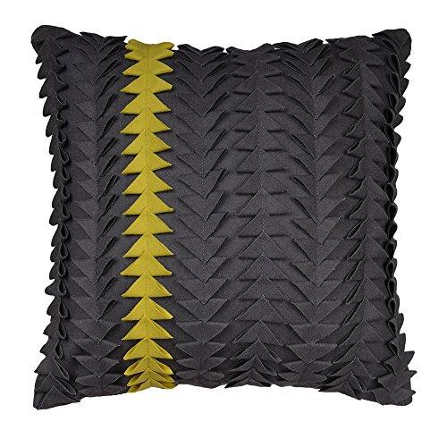 King Rose 3D Handmade Geometric Wool Sqaure Throw Pillow Cas