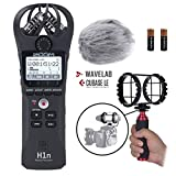 Zoom H1n Portable Digital Audio Recorder Kit - Zoom Audio Recorder with Deadcat Windscreen, Shock Mount, and Mic Grip