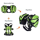 Pettom Dog Saddle Backpack 2 in 1 Saddblebag&Vest Harness with Waterproof for Backpacking, Hiking, Travel, suit for Small, Medium & Large Dogs