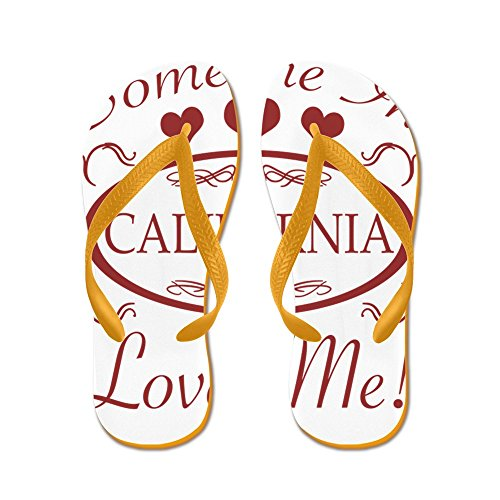 1fd0d6bf1bba cheap CafePress - Somebody In California Loves Me - Flip Flops ...