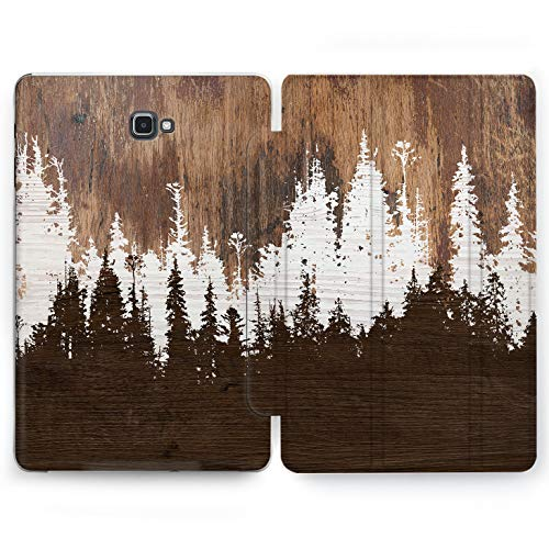 Wonder Wild Plunk Forest Samsung Galaxy Tab S4 S2 S3 A E Smart Stand Case 2015 2016 2017 2018 Tablet Cover 8 9.6 9.7 10 10.1 10.5 Inch Clear Design Plank Trees Timberland Woods Silhouette Minimalism