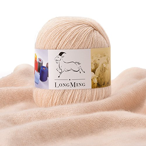 (LongMing Cashmere Yarn (100 g / 3.52 Ounces, Beige))