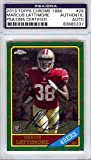 Marcus Lattimore Autographed 2013 Topps Chrome 1986 Rookie Card 49ers - PSA/DNA Certified - Football Slabbed Autographed Rookie Cards