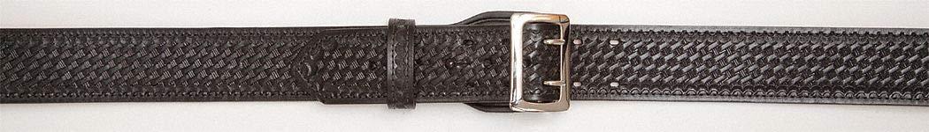 Black Weave Size: 56 Leather Width: 2-1//4 Duty Belt