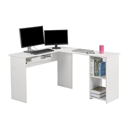 office desk for 2 corner langria lshaped computer corner desk pc latop study table modern home office desk for two people amazoncom