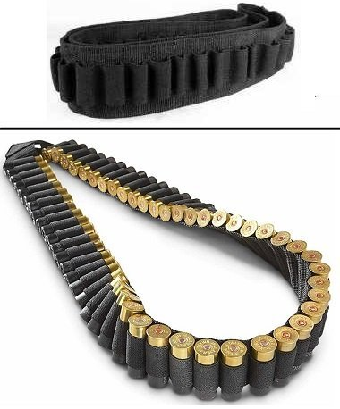 Safety Solution 10, 12 and 20 Gauge GA Stealth 56 Round Shotgun Shotshell Shoulder Bandolier, Black (Shotgun Shell Holder)