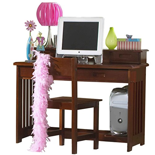 (Discovery World Furniture Student Desk with Hutch and Chair, Merlot)