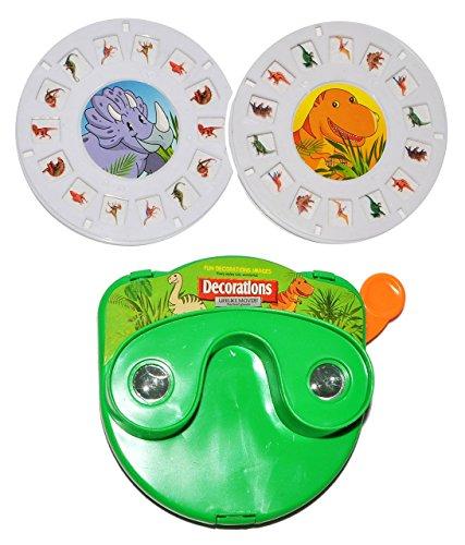 Bilder - Dia - Projektor - Dinosaurier / Dinos - mit 2 wechselbaren Diaplatten - für Kinder Mädchen Jungen - Bildershow Kinderkino - Kino Kaleidoskop