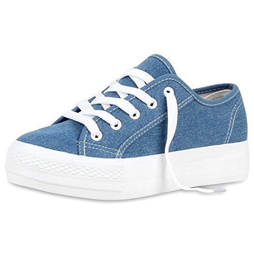 Chaussures De Vie Espadrille Damen Stabilisera Glitzer Blau Denim