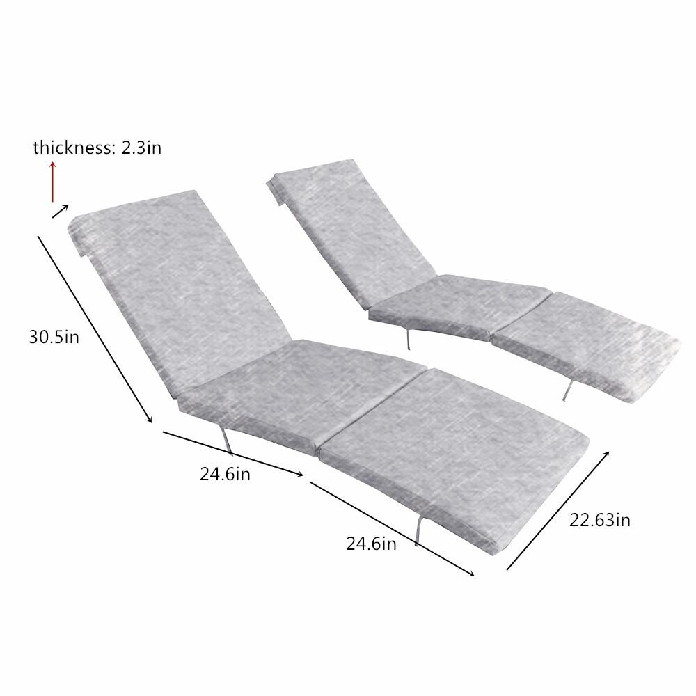 Outime Replacment Cushion Lounge Chair Set with Foam and Cover Set of Two,Orange