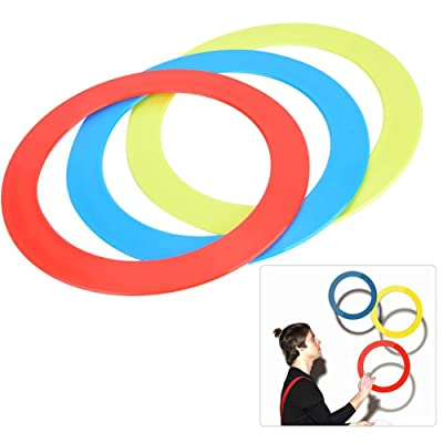 Keen so 3PCS/Set Hand Throw Ring Bracelet Props Hand Clown Toy Blue Red Yellow: Sports & Outdoors