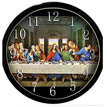 Brilla en la oscuridad reloj de pared - el en la última cena: Amazon.es: Hogar