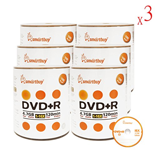 Smart Buy 1800 Pack DVD+R 4.7gb 16x Logo Blank Data Video Movie Recordable Disc, 1800 Disc 1800pk by Smart Buy
