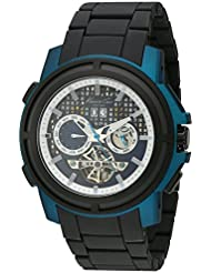 Kenneth Cole New York Mens KC9180 Auto Round Blue Titanium Automatic Watch