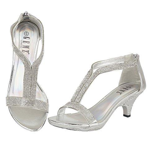 Gemz London - Sandalias de vestir para mujer Plateado - plata