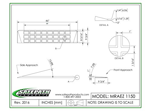 EZ Edge Transition Threshold Ramp - 1'' H x 9-3/4'' L x 46'' W by SafePath Products (Image #3)