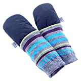 mimiTENS Classic Long Sleeve Warm Winter Mittens (Black) by mimiTENS