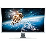 Viotek 32 inch LED Curved Computer Monitor with Speakers -1920x1080 Full HD, VGA DVI and HDMI, Model NA32C