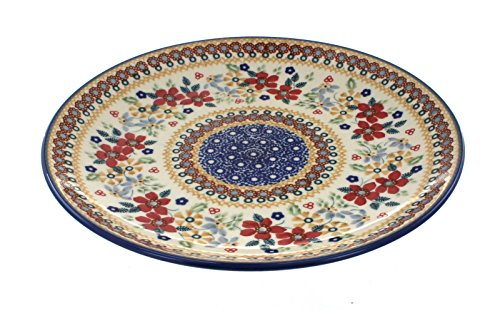 (Blue Rose Polish Pottery Red Daisy Dinner)