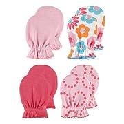 4-Pack Scratch Mittens, Pink Patterns