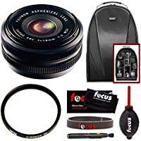 Fujifilm XF18mm F2 Lens w/ Focus Accessory Bundle & Camera Backpack
