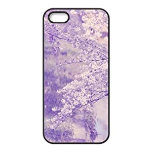 Glam Purple Flowers Personalized Phone Iphone 5/5S