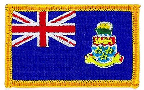 Isole caimans bandiera Patch ricamato termoadesivo caymans stemma backpack Akacha