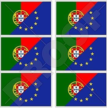 europe-portugal Bandera, eu-pt Europea union-portuguese 40 mm (1