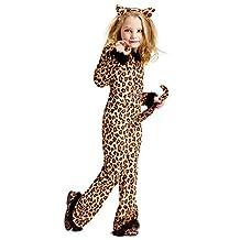 Fun World Girls Pretty Leopard Halloween Party Costume Set Brown S