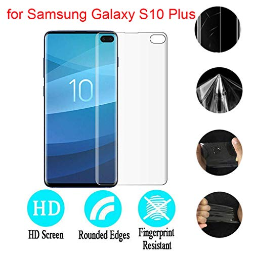 Hot Sale! Cyhulu 2019 New Fashion Soft TPU Cover Screen Film Protector for Samsung Galaxy S10 Plus 6.4 inch Smart Phone by Cyhulu (Image #5)