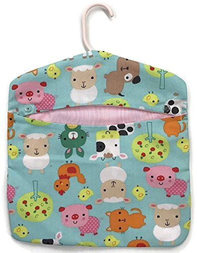 Be Real for Joy! Vintage Style Laundry Clothespin Bag Artisan Made (Funny Farm Animals)
