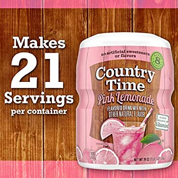 Amazon Com Country Time Pink Lemonade Drink Mix 19 Oz Canisters Pack Of 6 Powdered Soft Drink Mixes Grocery Gourmet Food