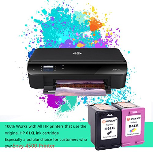 Novajet Remanufactured 61XL 61 XL Ink Cartridge (Black Colour) CH563WN CH564WN For HP Deskjet 1000 1050 2510 3510 -ENVY 4500 5530 Officejet 4630 4635 Photo #5