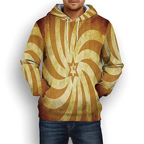 Coaballa Unisex 3D Pattern Printed,Burnt Orange,Hoodie Sweatshirts with Big Pockets
