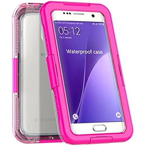 Kwok 2016 Waterproof Shockproof DustProof Case Cover For Samsung Galaxy S7 edge (Hot Pink) Sales