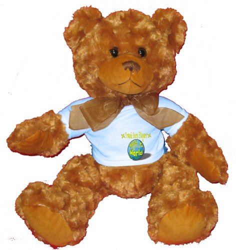 French Horn Players Rock My World Plush Teddy Bear with BLUE T-Shirt