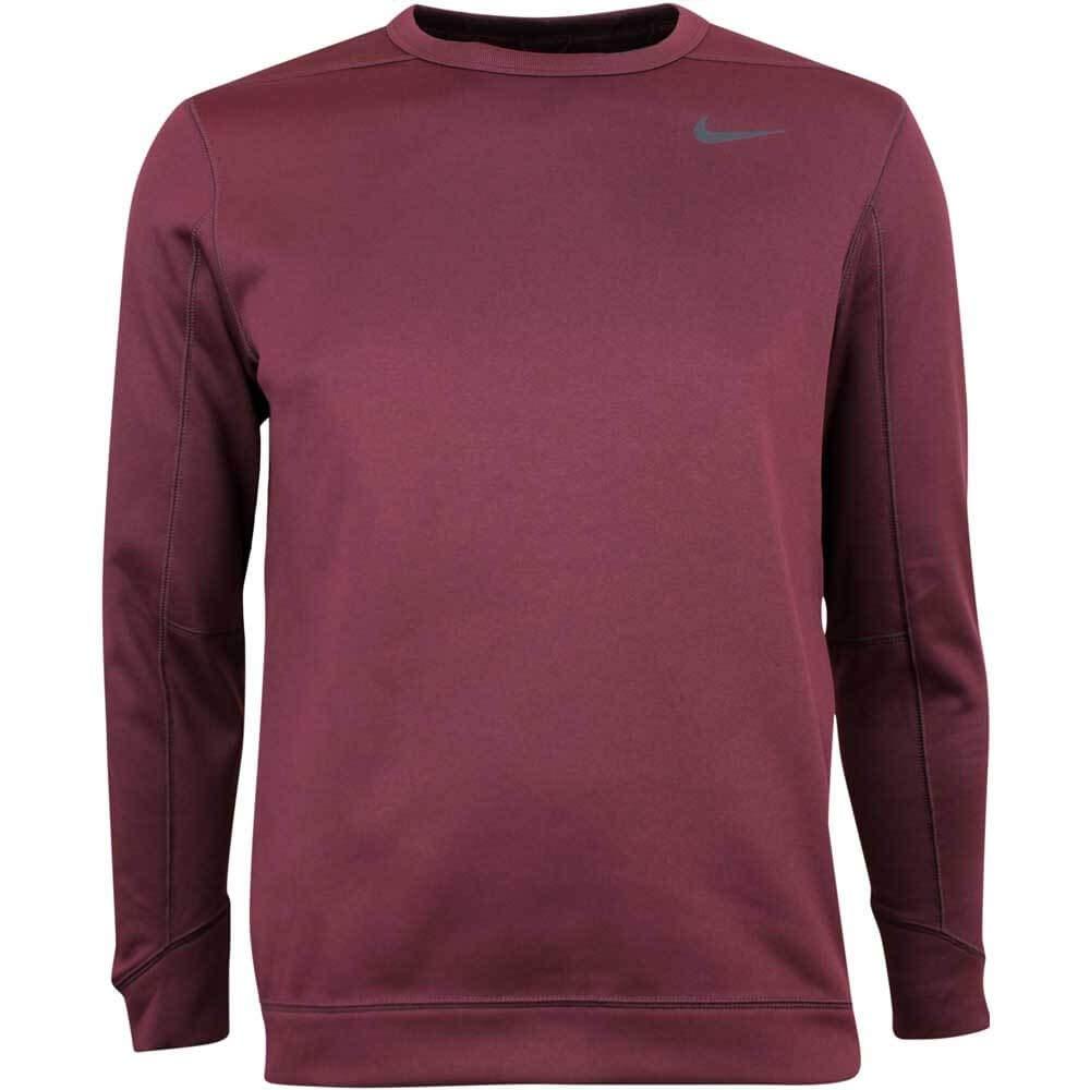 Nike Therma Repel Top Crew Golf Sweater 2019 Burgundy Crush/Black Small