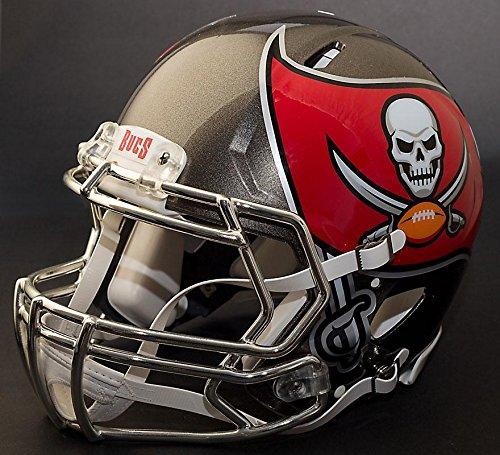 Riddell Speed Tampa Bay Buccaneers NFL Replica Football Helmet with S2BD Football Helmet Facemask/Faceguard (Buccaneers Tampa Replica Bay Football Helmet)