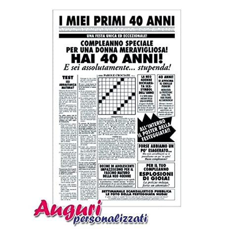 Biglietto Auguri Giornale Compleanno 40 Anni Amica Amazonit