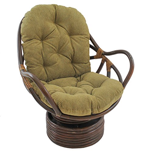 Blazing Needles Patterned Jacquard Chenille Swivel Rocker Ch