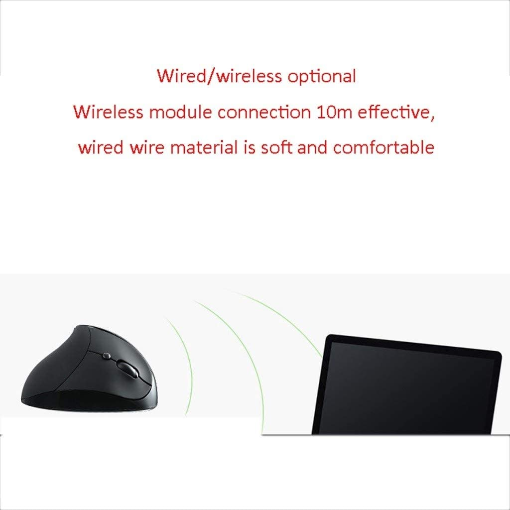 Color : D KQHSM Vertical Mouse Wireless Vertical Multi-Color Prevention Mouse Hand Ergonomic Mouse Hand Wireless Mouse Wheel