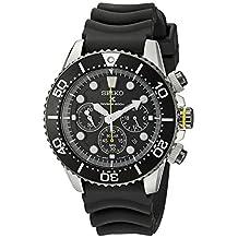 Seiko Men's SSC021 Solar Diver Chronograph Watch