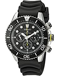 Seiko Mens SSC021 Solar Diver Chronograph Watch