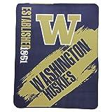 The Northwest Company NCAA Collegiate School Logo Fleece Blanket (Washington Huskie)