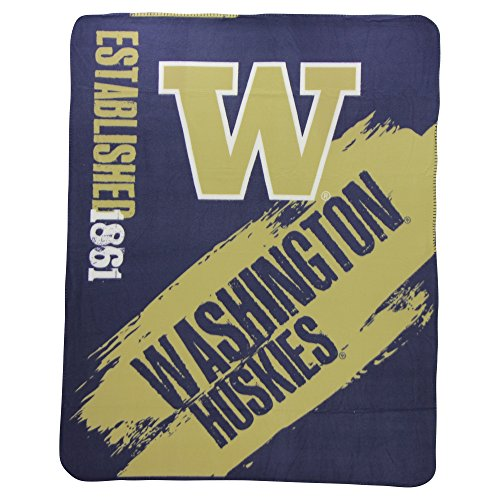 NCAA Collegiate School Logo Fleece Blanket (Washington Huskies, 50
