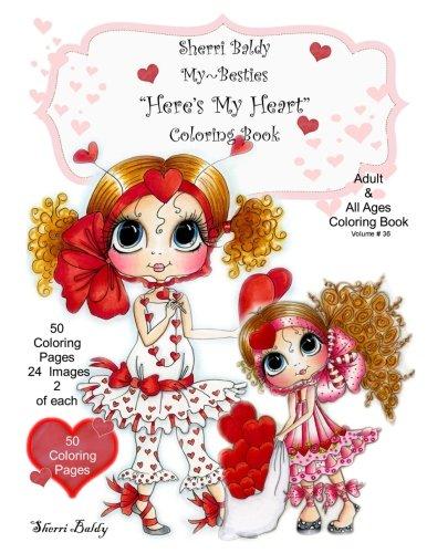 Download Sherri Baldy My-Besties Here's My Heart Coloring Book pdf epub
