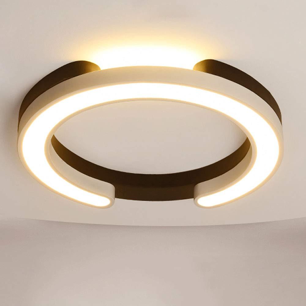 Wandun LED Deckenleuchte, Modern Deckenlampe Wohnzimmer dormitorio für Balkon Flur Bad Küche Deckenbeleuchtung Schwarz und weiß Runde Schwarz und weiß [Energieklasse A+]